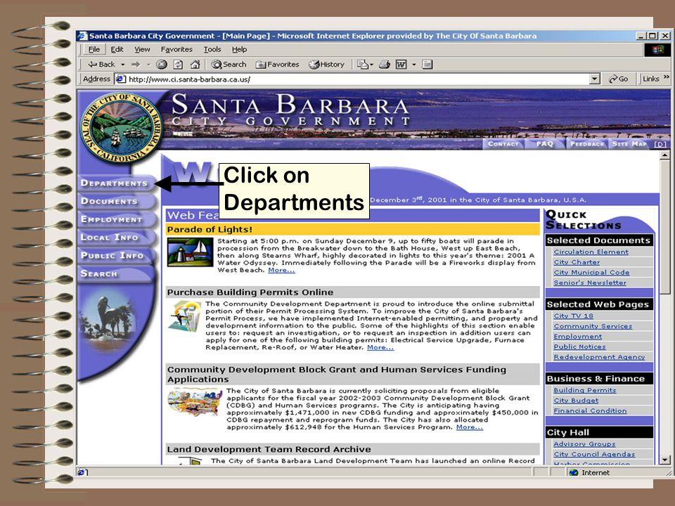 Click on Community Development