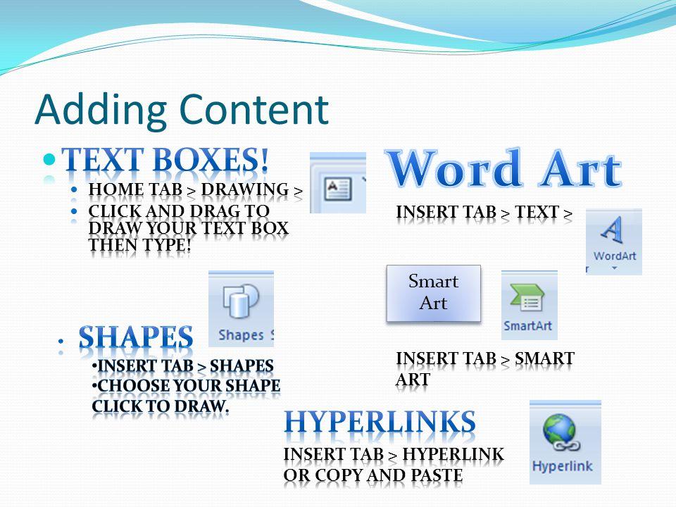 Formatting Content New – Smart Art.
