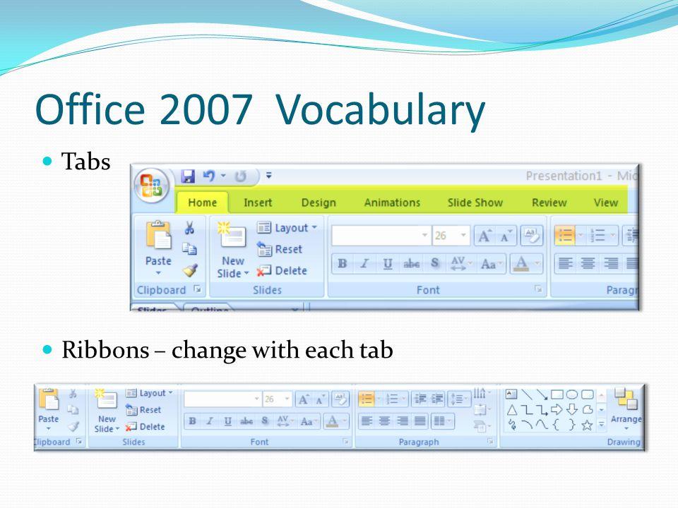 Short review of the basics http://office.microsoft.com/home/video.aspx?assetid= ES102358651033&width=512&height=288&startindex=0 &CTT=11&Origin=HH103779181033 http://office.microsoft.com/home/video.aspx?assetid= ES102358651033&width=512&height=288&startindex=0 &CTT=11&Origin=HH103779181033