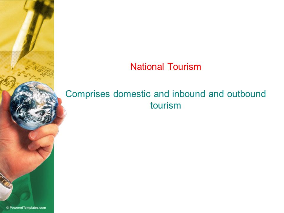 International Tourism Consists of inbound and outbound tourism