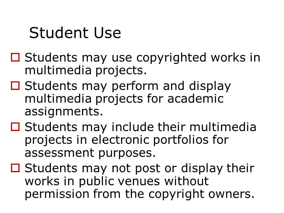 Faculty may incorporate copyrighted works into multimedia creations to create curriculum materials.