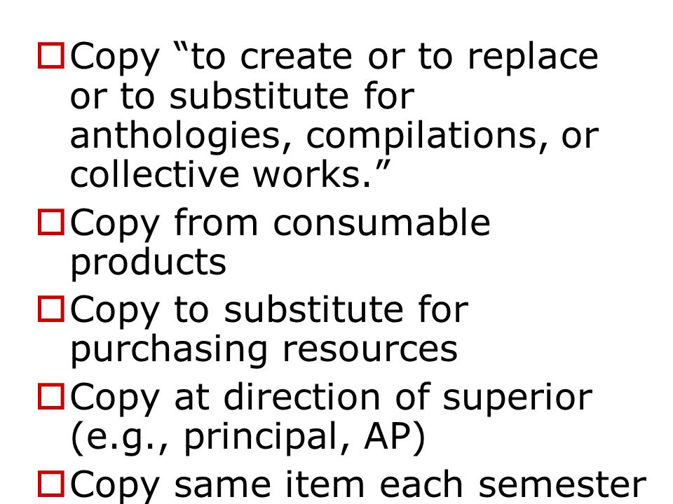 A teacher may make multiple copies for classroom use if...