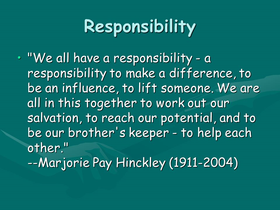 How do you teach your child responsibility.