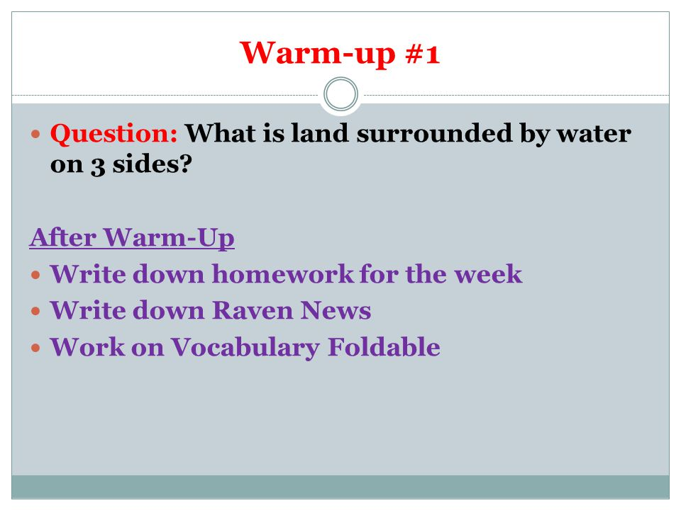 Warm-Up #2 Question: What are the 3 city-states that make up Mesopotamia.