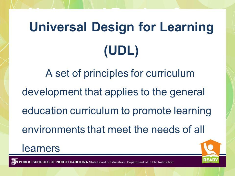 Universal Design Individualized Instruction Differentiated Instruction Universal Design
