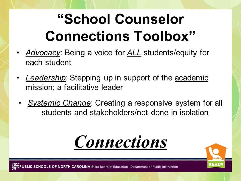 School Counselors Leaders in … School Reform Student Achievement College & Career Readiness Video from The National Office for School Counselor Advocacy