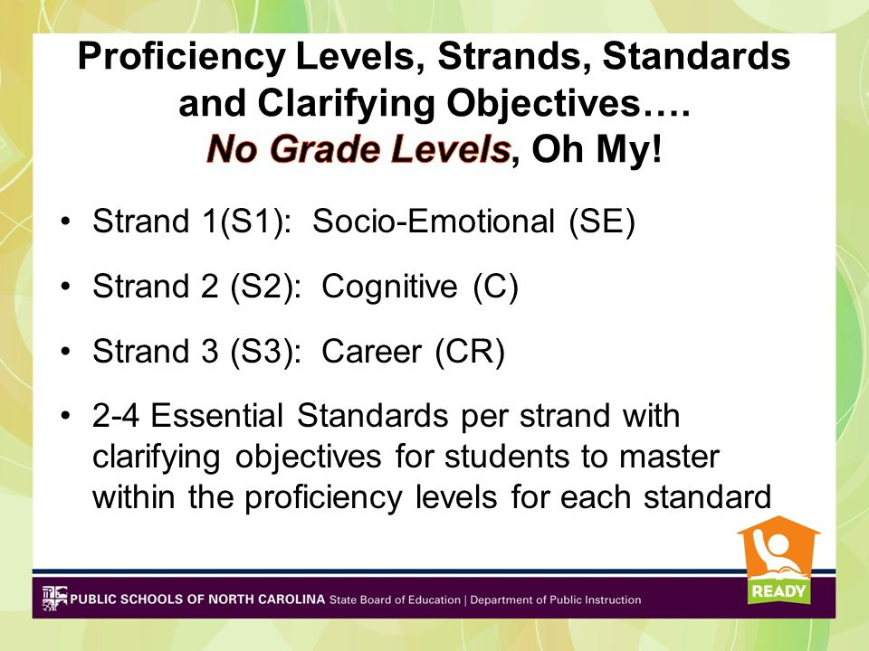Example: Essential Standard Readiness: RED.SE.1 Understand the meaning and importance of personal responsibility.