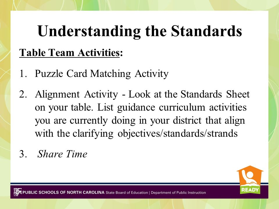 Standards are not…