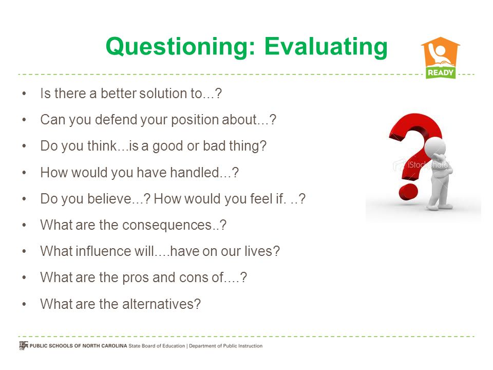 Questioning: Creating Can you design a...to....Can you see a possible solution to....