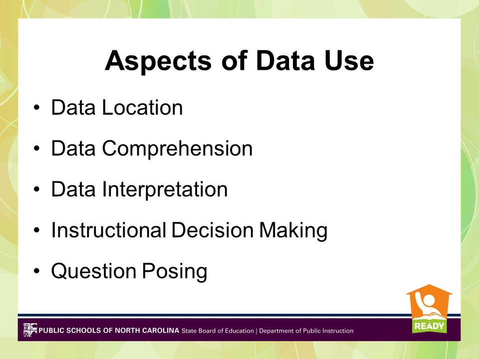 Multiple Uses of Data Drives decisions and funding Ensures that you are reaching EVERY student, so EVERY student benefits from your school counseling program Creates an urgency for change Creates the energy for change Serves as a catalyst for focused attention Challenges existing policies Engages decision makers, district leaders, school teams in data driven decision making Surfaces evidence of access or equity issues Focuses resources where they are most needed Supports grant writing efforts