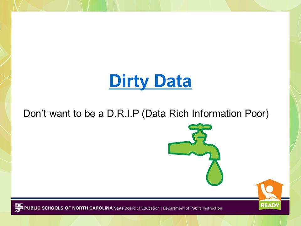Data Types Achievement or assessment data Demographic data Program data Perception data