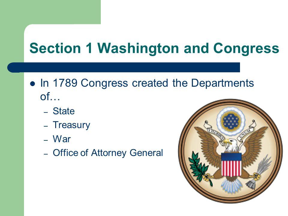 President George Washington chose Thomas Jefferson as the Secretary of the State Alexander Hamilton, the head of the Treasury Department