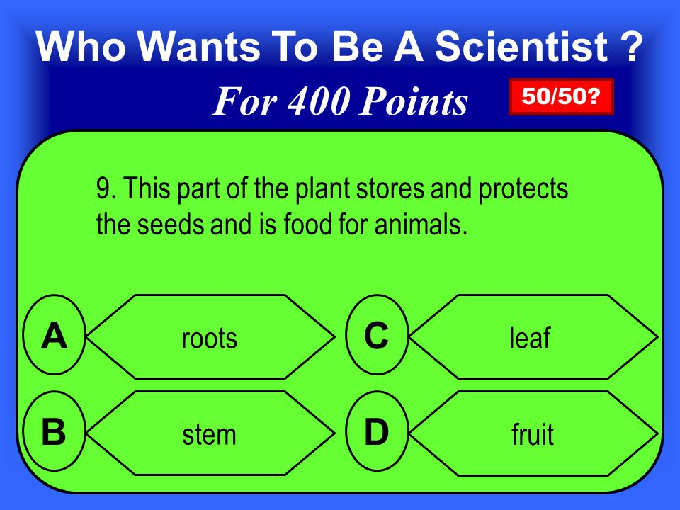 9.This part of the plant stores and protects the seeds and is food for animals.