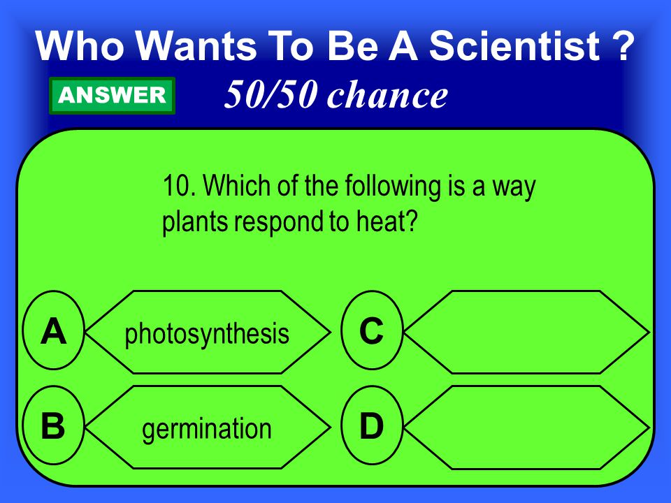 10.Which of the following is a way plants respond to heat.