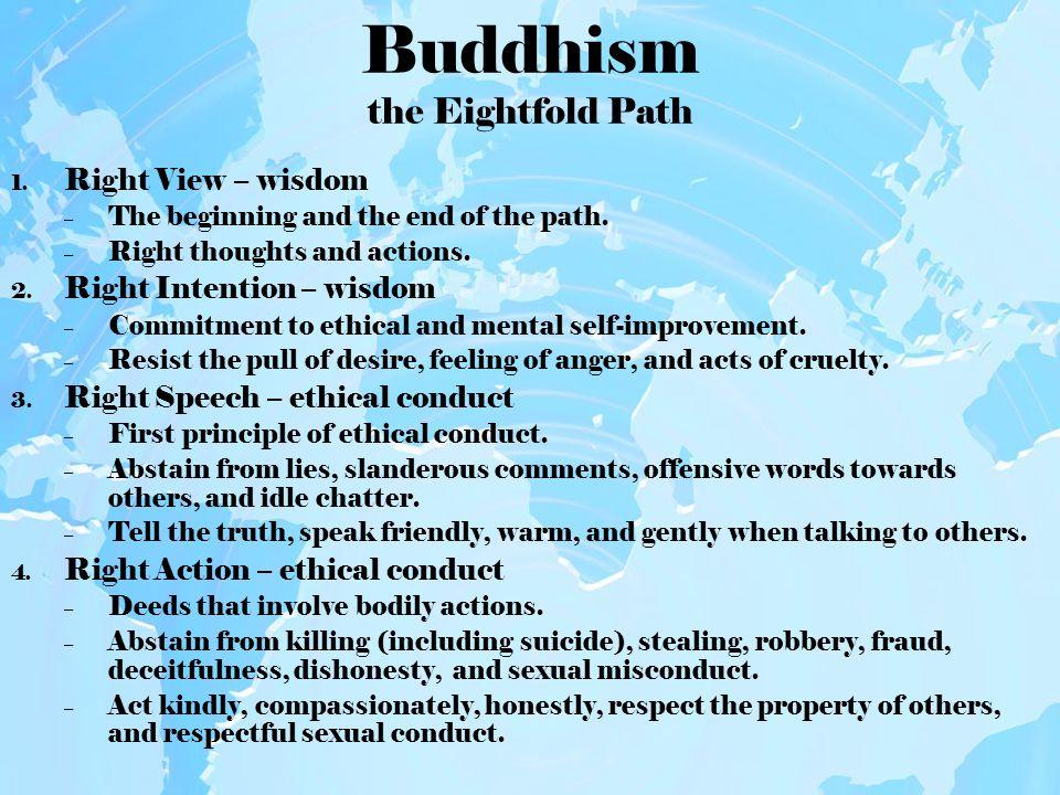 Buddhism the Eightfold Path 5.