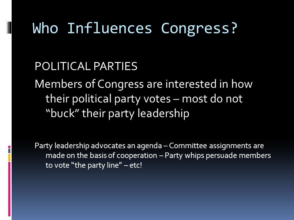 Who Influences Congress.