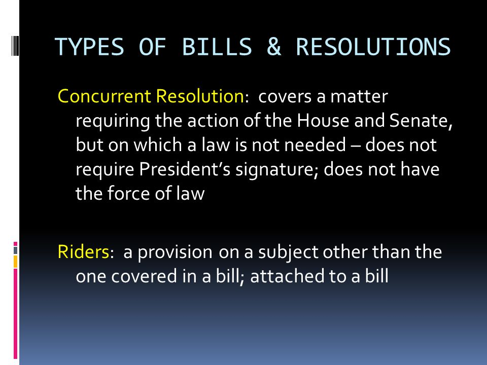 WHY SO FEW BILLS BECOME LAWS Less than 10 percent of all bills introduced in Congress become law – Why.