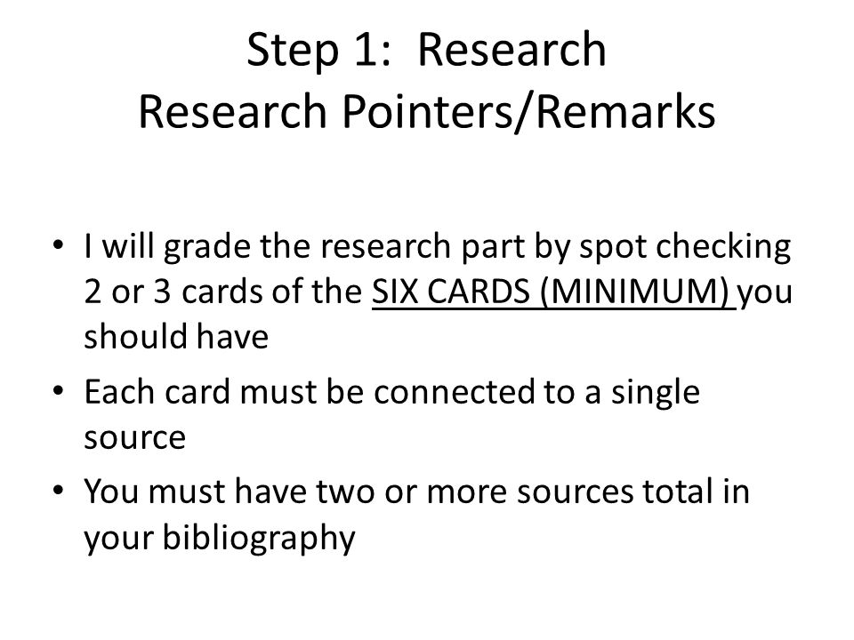 Research Pointers/Remarks (cont'd) In addition to searching on your person's name, search on things you find are important to him or her For example, for Martin Luther King, the brief biography would tell he was involved with the MONTGOMERY BUS BOYCOTT, and was a leader in the NAACP and SOUTHERN CHRISTIAN LEADERSHIP ASSOCIATION.
