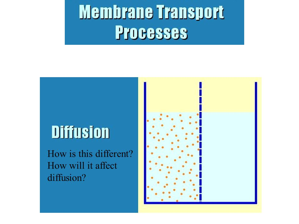 Osmosis is like diffusion, in that no outside energy is involved and materials tend to move from high concentration to low concentration, but it is different in that a membrane is involved which controls to some degree which things may cross the membrane, so complete mixing may not occur.