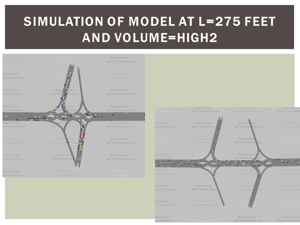 PROJECT SUMMARY  DDI exhibits better performance in average speed, delay, and stop time in large crossover spacing  DDI exhibits better performance in average speed, delay, and stop time under lower traffic volumes  No significant advantages at lower traffic volumes  Performance decreases as a faster rate as volume is increased at lower crossover spacing  Optimizing the signal timing on the main corridor serves to significantly increase network performance  Recommended spacing not be less than ~550ft  DDI begins to show excessive delays