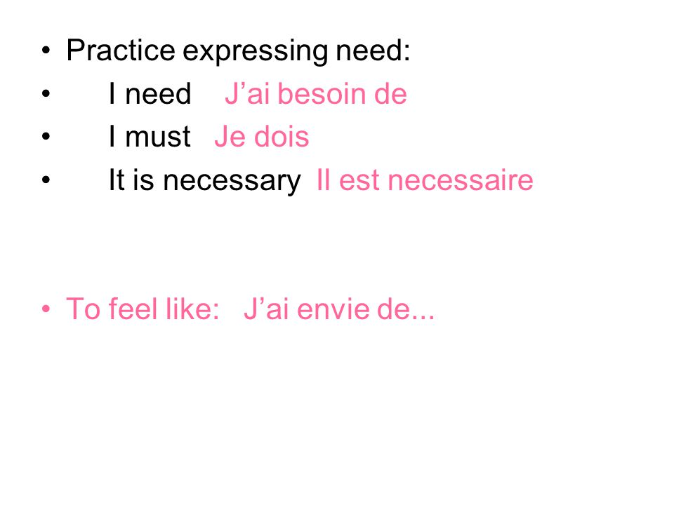 Practice asking for permission: Can I...Puis-je May I .