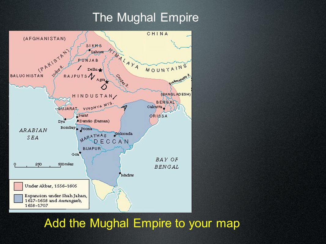 1300 – 1500 India controlled by Turkish Muslims.