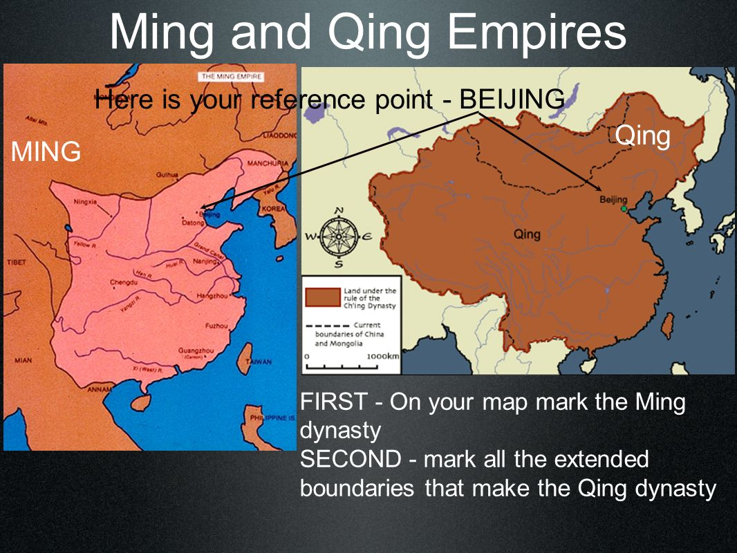 MING Ming Dynasty of China 1368-1600 Early experienced sailors - used boats called junks Spent $ on northern defense rather than explorations fortified Great Wall in N.