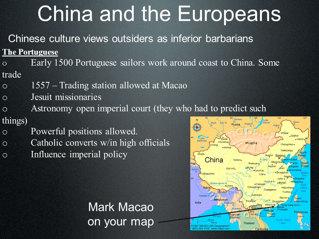 China and the Europeans The British o 1600 Tea – all the rage in Br.