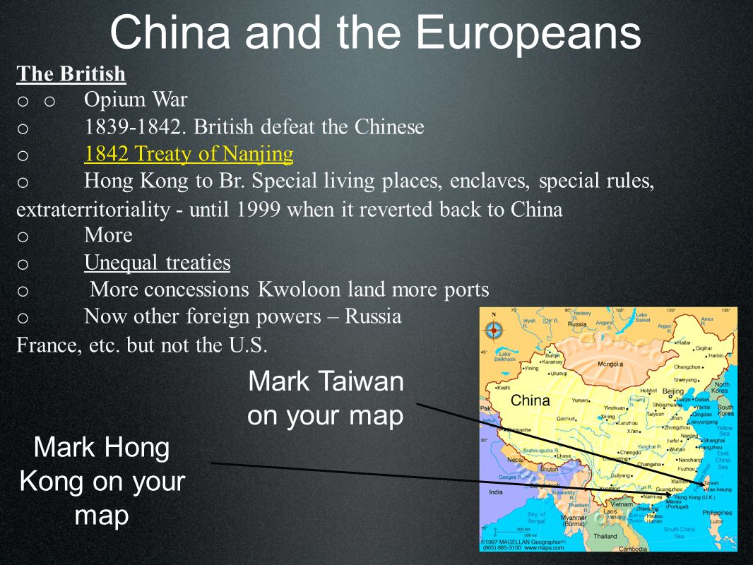 China and the Europeans Rebellions o mid 1800s Hong Xiuguan Christian convert.