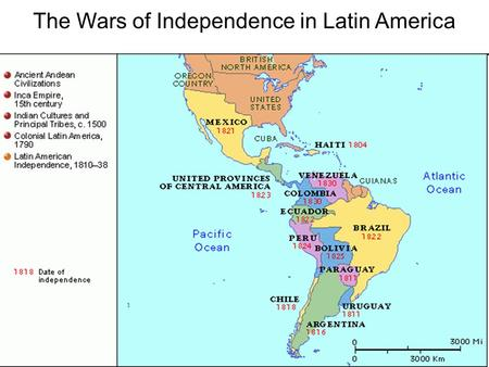 The Wars of Independence in Latin America. Reasons for Revolution –Social Structure of Latin America –Upper Class Peninsulares – people of European descent.