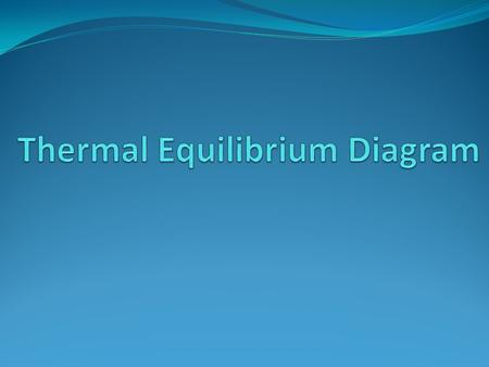 Thermal Equilibrium Diagram  Also known as Phase Diagram or Constitutional Diagram.  Very important in the study of the alloy.  Definition:-  The.