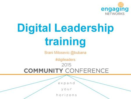 Digital Leadership training Brani #digileaders.