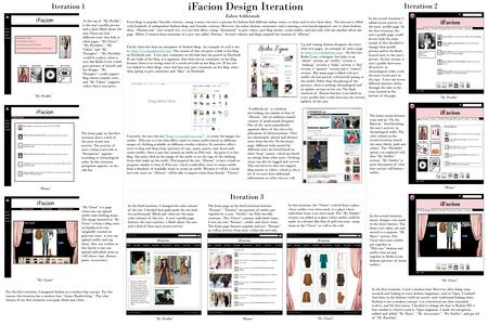 IFacion Design Iteration Iteration 1 Iteration 2 Iteration 3 From blogs to popular Youtube stations, young women who have a passion for fashion find different.