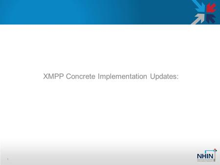 XMPP Concrete Implementation Updates: 1. Why XMPP 2 »XMPP protocol provides capabilities that allows realization of the NHIN Direct. Simple – Built on.
