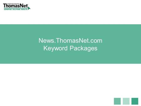 News.ThomasNet.com Keyword Packages