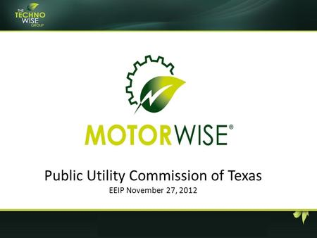 Public Utility Commission of Texas EEIP November 27, 2012.