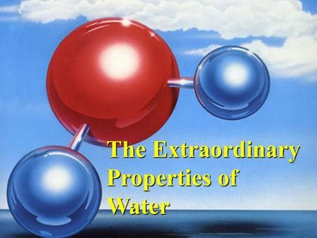 important properties of water They also dissolve important nutrients for all the life forms that call these bodies of water home oils and detergents also have important properties with water oil is not soluble in water.
