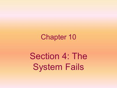 Chapter 10 Section 4: The System Fails. Violence Erupts Antislavery groups in the northeast set up Emigrant Aid Societies in 1854-1855 to send 1,200 New.