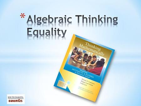 * Participants will establish that students have some very common misconceptions about the meaning and use of the equal sign * Participants will explore.
