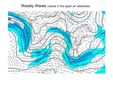 Rossby Waves (waves in the upper air westerlies).