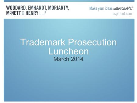 Trademark Prosecution Luncheon March 2014. Are You A Canadian John Doe? February 2014, Federal Court of Canada ordered an ISP to release the names and.