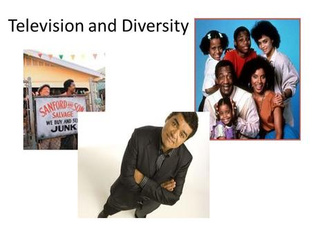Television and Diversity. Television networks introduced 26 new prime-time programs. None had a member of a minority group in a leading role. Many civil.