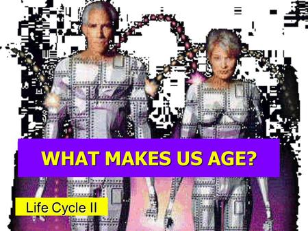 WHAT MAKES US AGE? Life Cycle II. JOHN TURNER AGE 67 AGE 77.