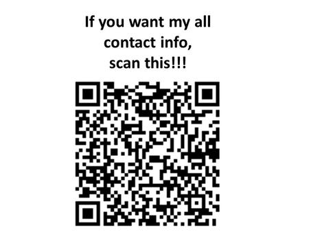 If you want my all contact info, scan this!!!. Welcome to Ms. Zaruba's Math Class 2015-2016.