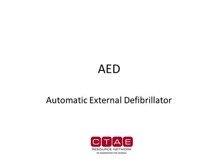 AED Automatic External Defibrillator. AED …are the latest, most important, advancement in sudden cardiac arrest response. They are amazing little gadgets.