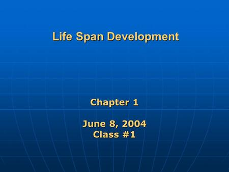 chapter 1 introducing life span development Chapter 10: human development suppose you are studying a theory of development that divides the lifespan into five lifespan and life expectancy are really.