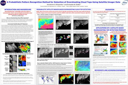 Long-Term High-Temporal and Spatial Resolution Overshooting Storm Climatologies Using Geostationary Imagery INTRODUCTION AND BACKGROUND VALIDATION PROBABILISTIC.