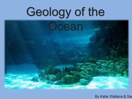 Geology of the Ocean By Katie Wallace & Sarah Turcotte.