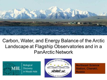 Carbon, Water, and Energy Balance of the Arctic Landscape at Flagship Observatories and in a PanArctic Network Northeast Science Station, Cherskii, Russia.