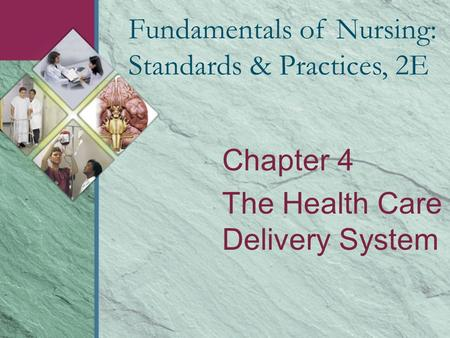 Chapter 4 The Health Care Delivery System Fundamentals of Nursing: Standards & Practices, 2E.